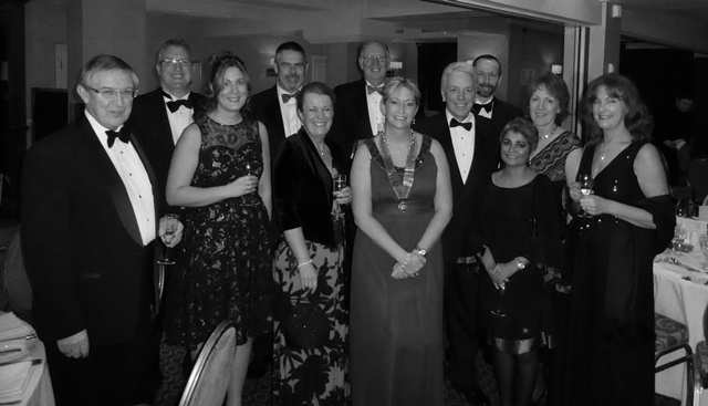 Macclesfield Law Society annual dinner 2014 - President's table