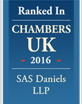 Leading Firm - SAS Daniels LLP - Chambers UK 2016