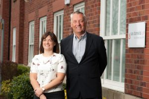 Justine Clowes and Nigel Read, Joint Heads at SAS Daniels' Macclesfield office