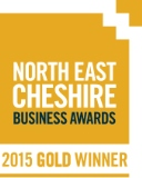 North East Cheshire Business Awards 2015 goldwinner. Business of the year (over £5million turnover).