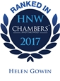Chambers High Net Worth 2017, Helen Gowin ranked