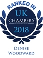 Chambers logo 2018, Denise Woodward ranked.