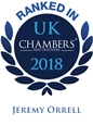 Chambers logo 2018, Jeremy Orrell ranked.