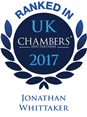Ranked in Chamber 2017, Jonathan Whittaker logo