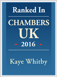 Kaye Whitby - Ranked in Chambers 2016