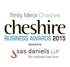 SAS Daniels celebrates ongoing support of Cheshire Business Awards 2015