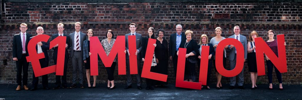 SAS Daniels' Employment Law and HR team hit £1 Million pound mark