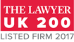 The Lawyer UK 200 Listed Logo 2017