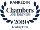 ranked in chambers and partners 2019 leading firm