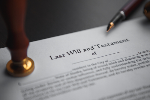 Last Will and Testament paper documents to make a Will