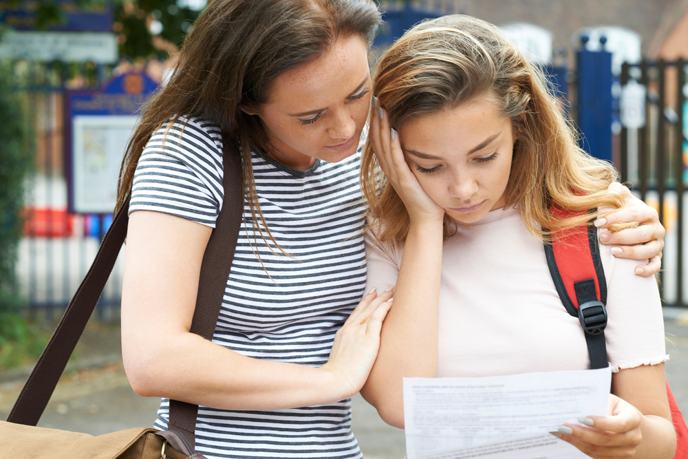 Students upset over recent A-level results being published