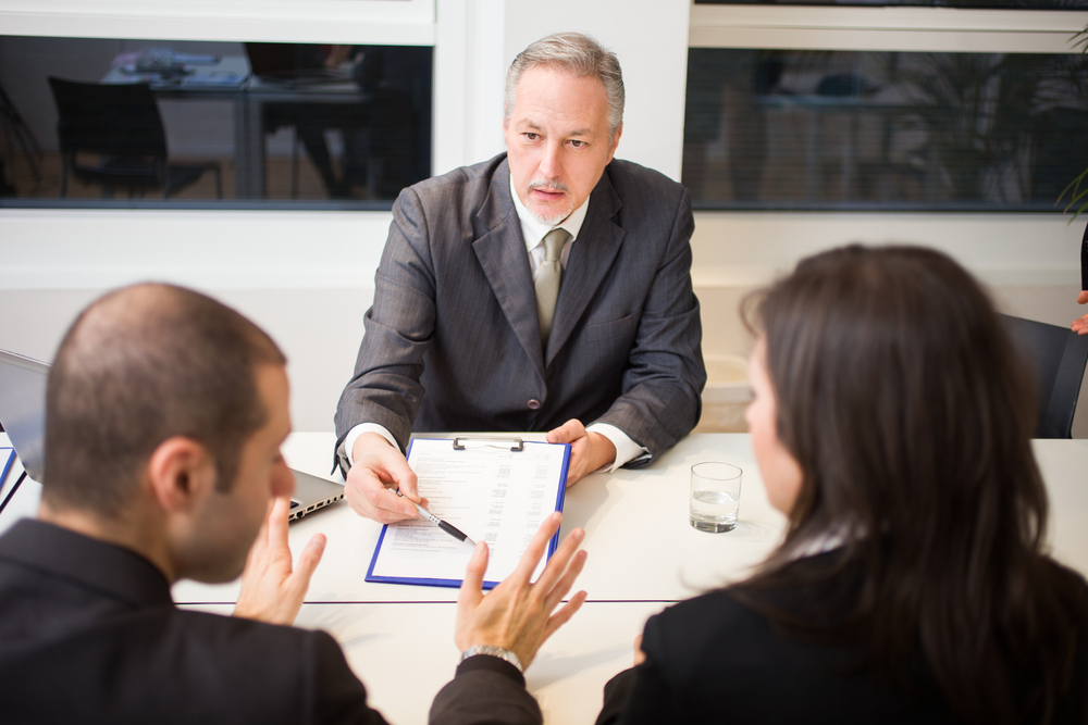 Spouses instructing a family lawyer with divorce