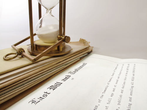 Last will and testament document - what happens if you die without a Will?